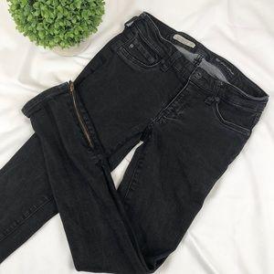AG the Jegging super skinny fit ankle zipper jeans